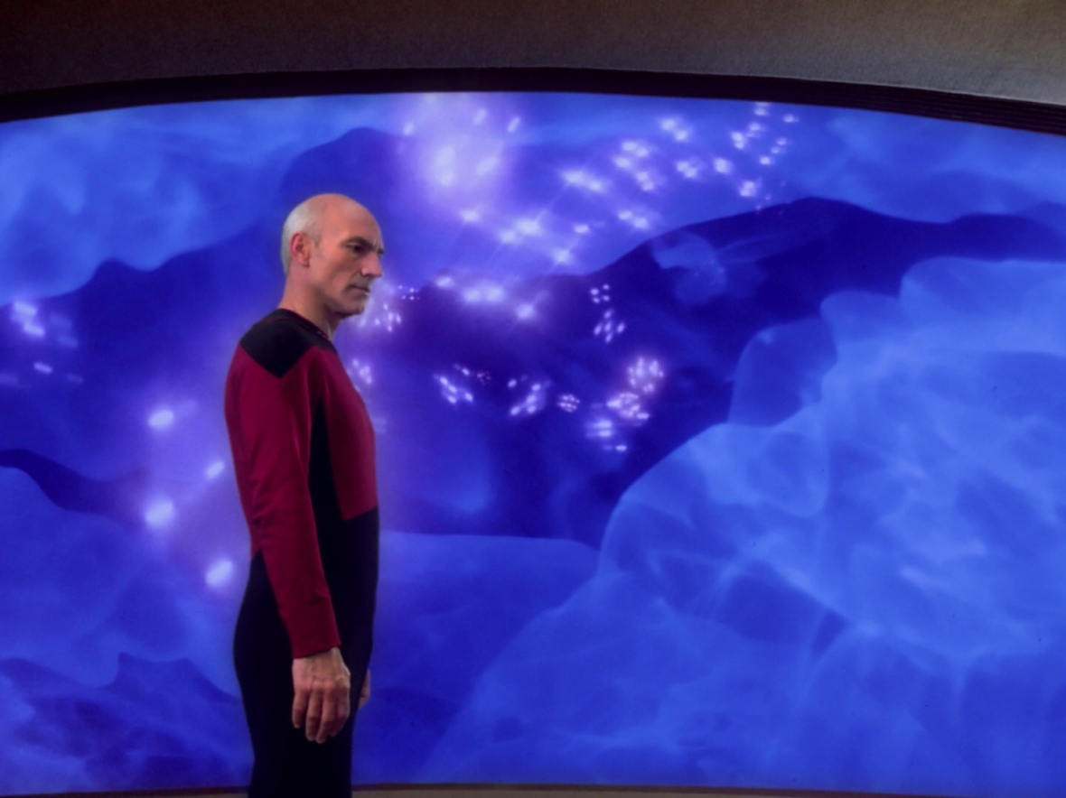 Picard wonders what the replicator put in his Earl Grey earlier