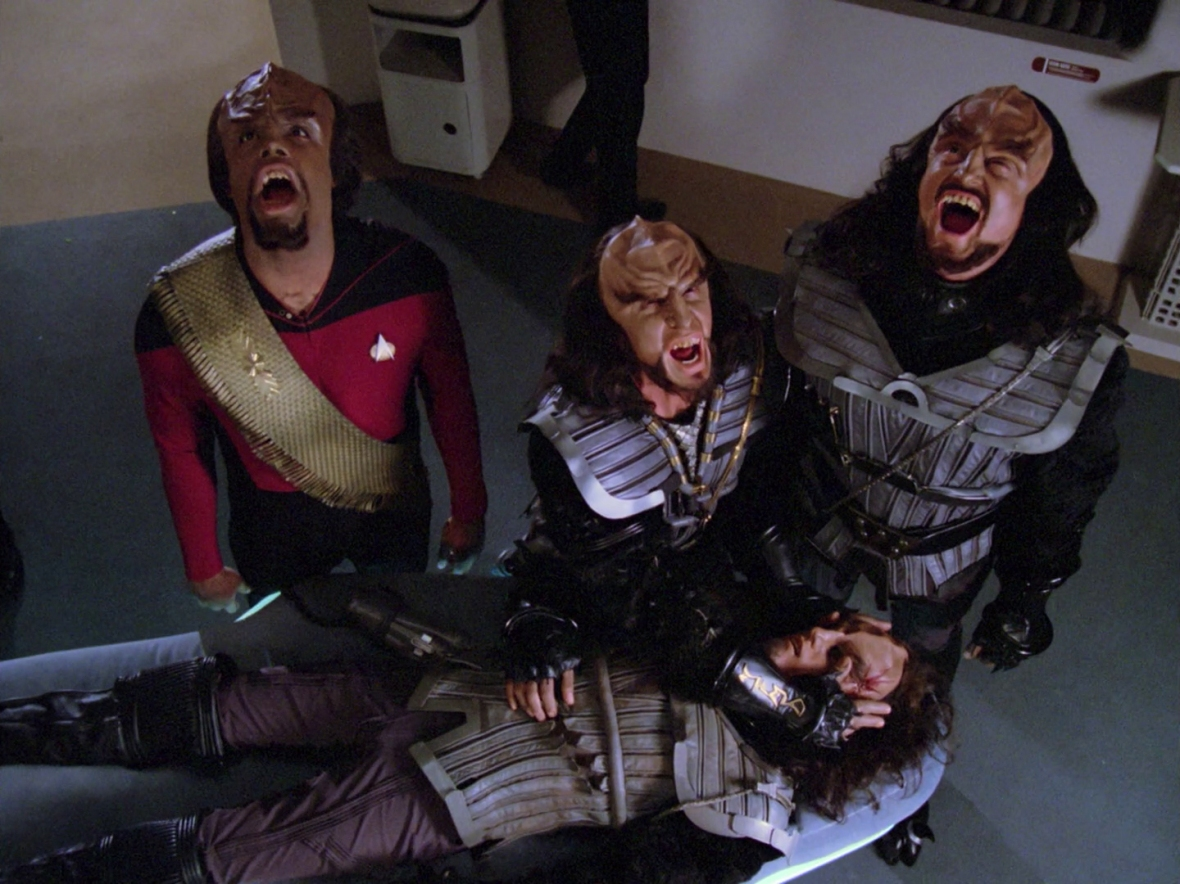 Worf's Barbershop quartet wasn't off to the best start