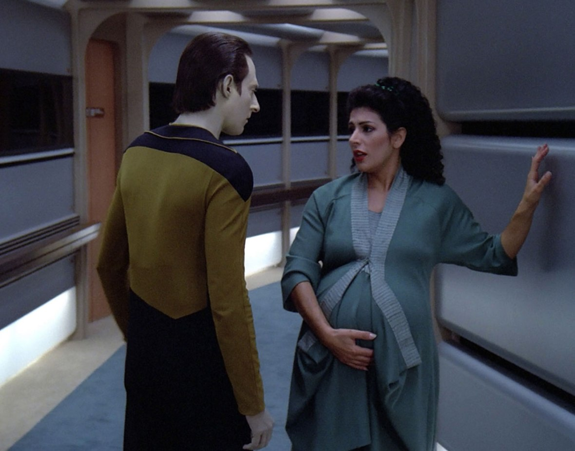 """Data, could you help me take this fake bump to the Fake Bump Cupboard ?"""