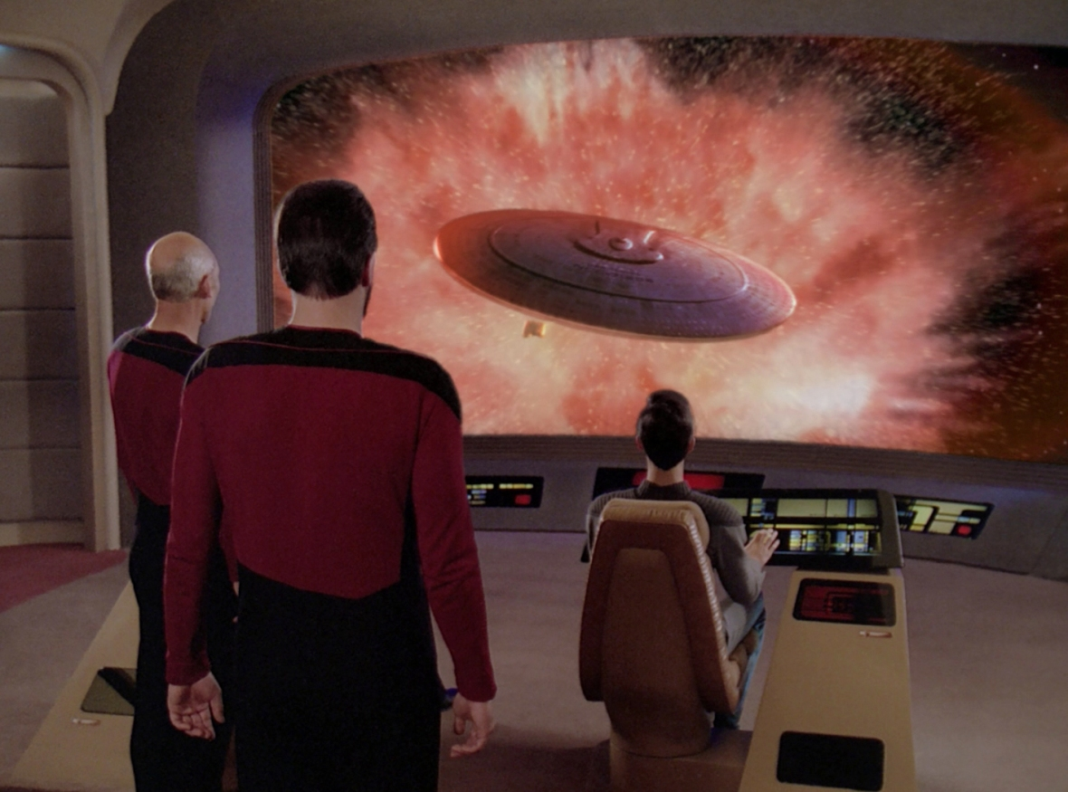 Riker found Data's choice for the Enterprise's 'movie night' a little unnerving.