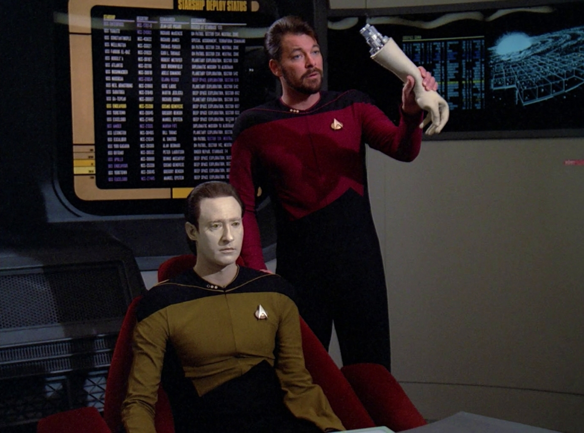 Riker's performance was excellent. Data gave him a big hand.