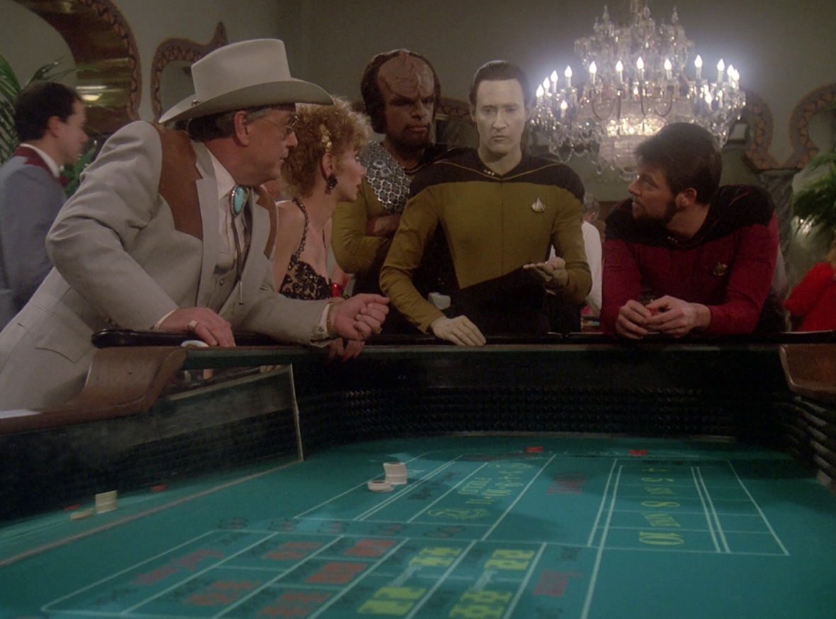 Data's dice-holding lessons were going well