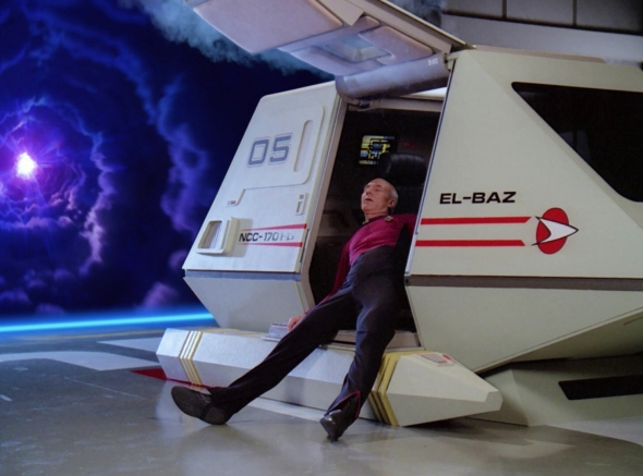Picard had a big night and woke up wondering who El-Baz was