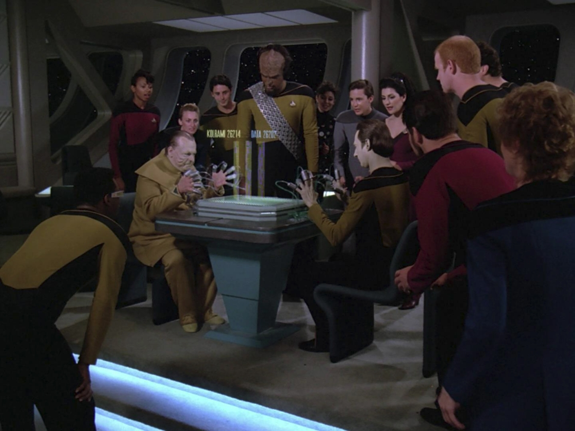 The crew enjoyed a good old fashioned game of 23rd Century Minesweeper